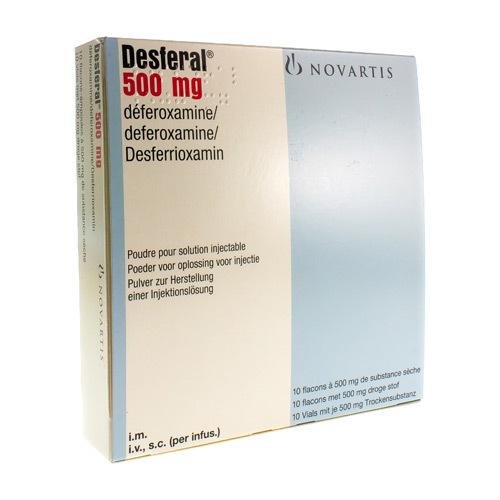 Desferal 500 Mg  10 Ampoules