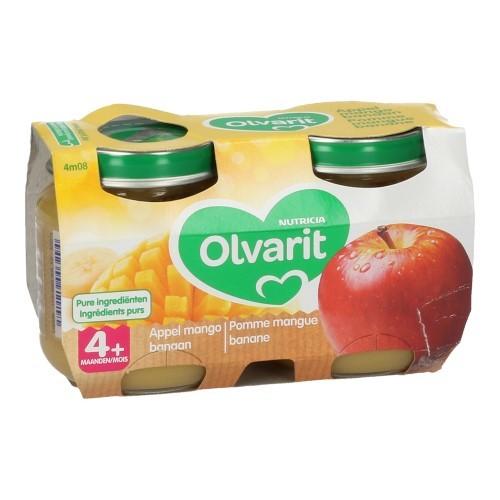 Olvarit Fruit Appel Mango Banaan 2X125G