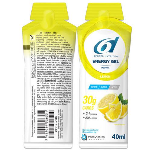 6D Energy Gel Lemon 12X40G