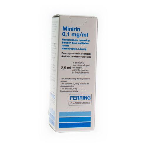 Minirin Neusdruppels 0,1 Mg/Ml (2,5 Ml)
