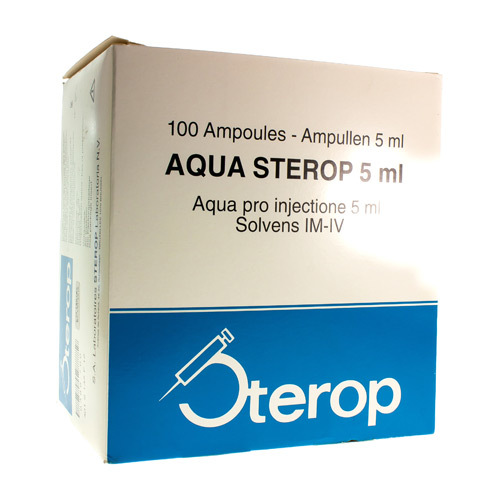 Aqua Sterop 5 Ml  100 Ampoules