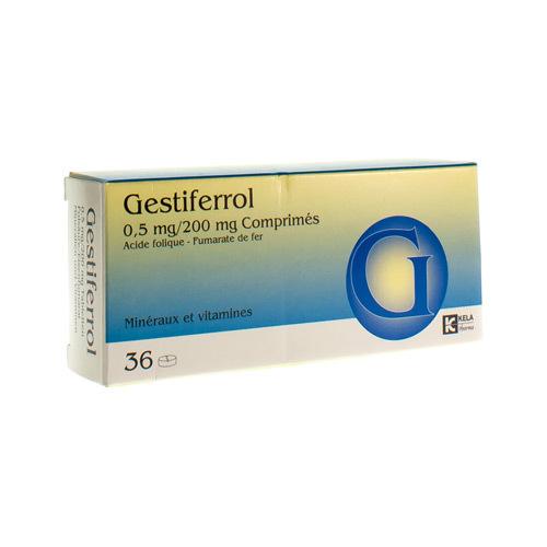 Gestiferrol 0,5 Mg / 200 Mg (36 Comprimes)