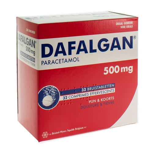 Dafalgan 500 mg (32 bruistabletten)