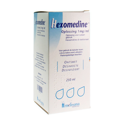 Hexomedine Oplossing 1 mg/ml (250 ml)