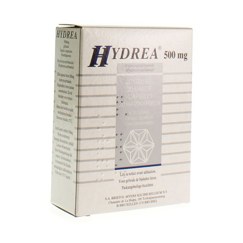 Hydrea 500 Mg (20 Capsules)