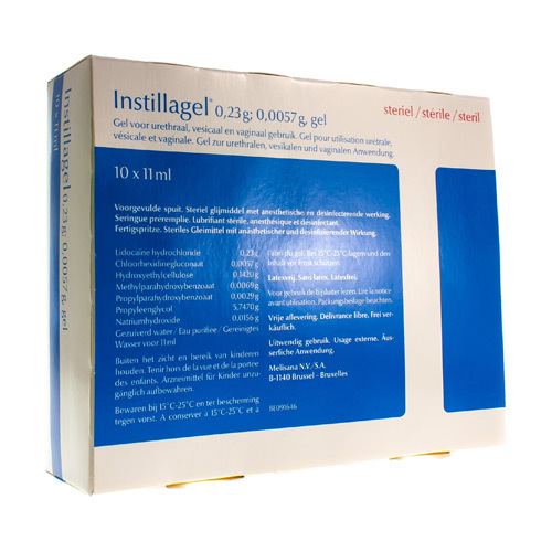 Instillagel 0,23 G / 0,0057 G (10 Spuiten)