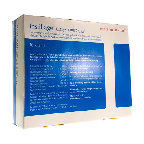 Instillagel 0,23 G / 0,0057 G (10 Seringues)