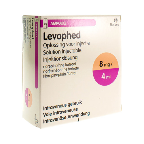 Levophed 8 mg/4 ml (10 ampullen)