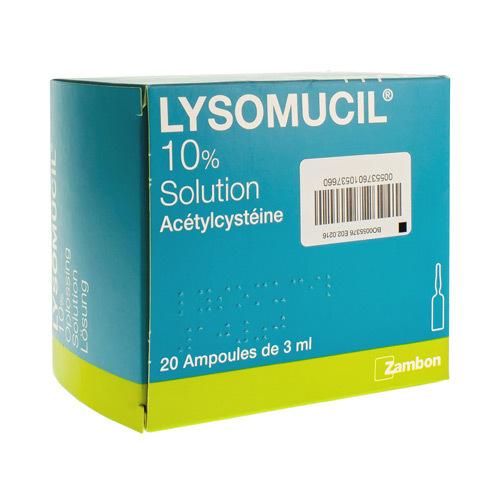 Lysomucil 10% (20 Ampoules)