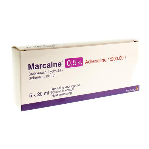 Marcaine 0,5% Adrenaline 1:200.000 (5 Flacons)