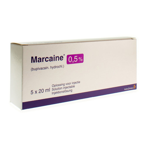Marcaine 0,5% (5 Flacons)