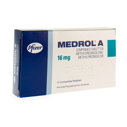 Medrol A 16 mg (14 tabletten)