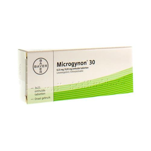 Microgynon 30 0,15 Mg / 0,03 Mg (3 X 21 Comprimes)