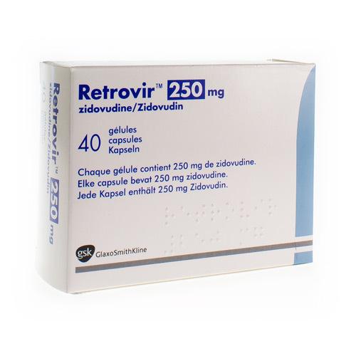 Retrovir 250 Mg (40 Gelules)