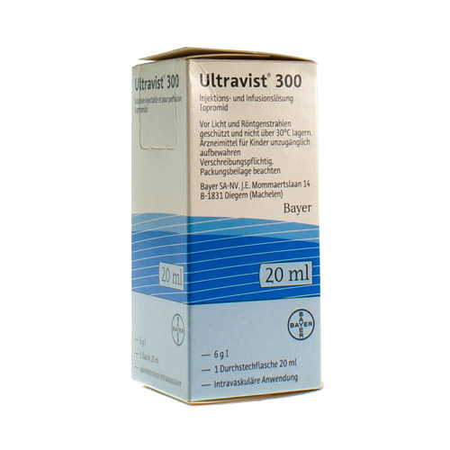 Ultravist 300 (1 X 20 Ml Injectieflacon)