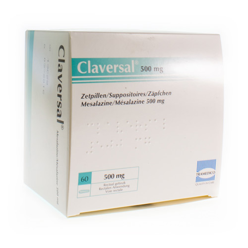 Claversal 500 Mg  60 Suppositoires