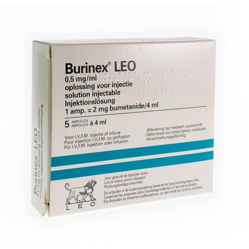Burinex Leo 2 Mg/4 Ml  5 Ampullen