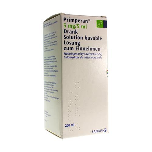Primperan Solution Buvable 5 Mg/5 Ml (200 Ml)