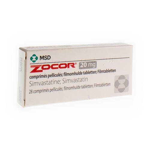 Zocor 20 Mg (28 Comprimes)
