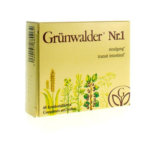 Grunwalder Nr.1 Stoelgang (60 Kruidentabletten)