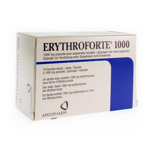 Erythroforte 1000 Mg (10 Zakjes)