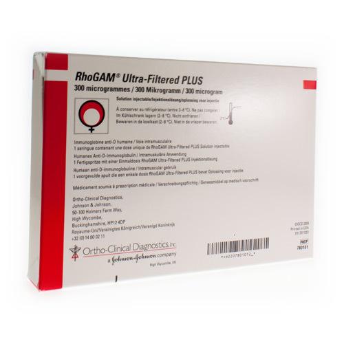 Rhogam Ultra-Filtered Plus 300 Mcg (1 Seringue)