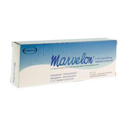 Marvelon 0,150 Mg / 0,030 Mg (3 X 21 Comprimes)
