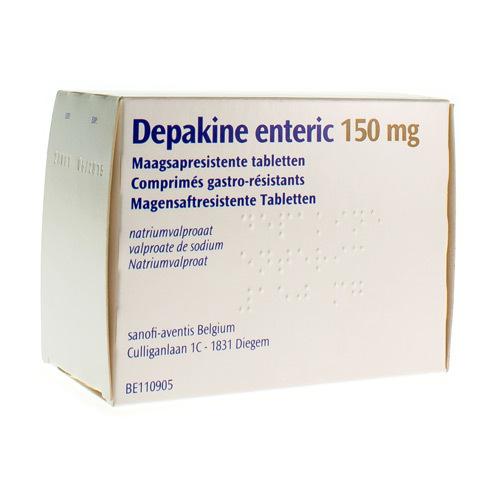 Depakine Enteric 150 Mg  100 Comprimes