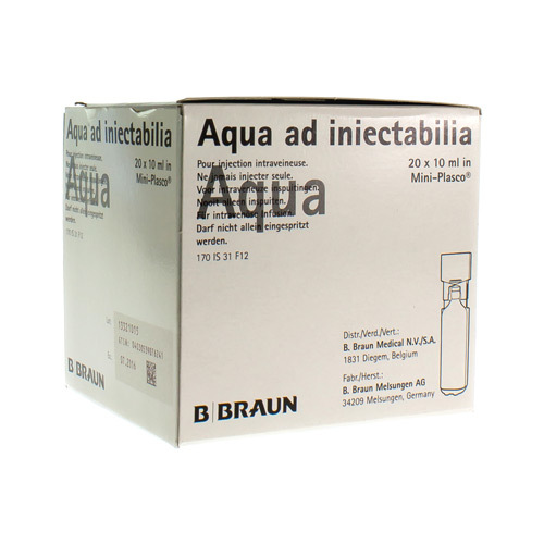 Miniplasco Aqua Pr Inj 10 Ml 20Amp