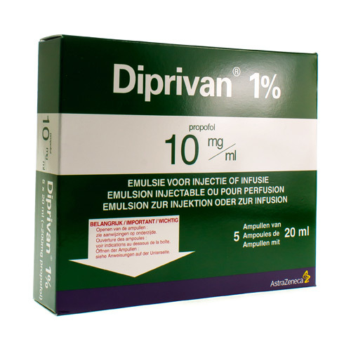 Diprivan 1% Amp Iv 5X200Mg/20Ml