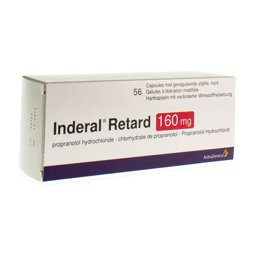 Inderal Retard Caps 56X160Mg