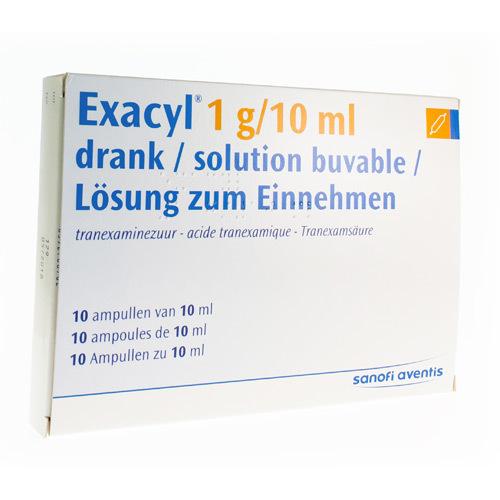 Exacyl 1 G/10 Ml (10 Ampoules)