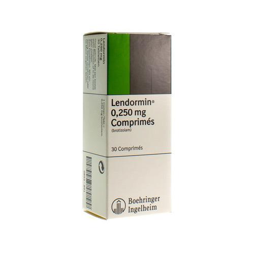 Lendormin 0,25 Mg (30 Comprimes) - Pharmacie Medibib  Lendormin 0,25 ...
