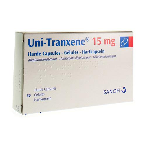 Uni-Tranxene 15 Mg (30 Gelules)