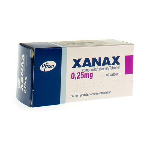 Xanax 0,25 Mg (50 Comprimes)