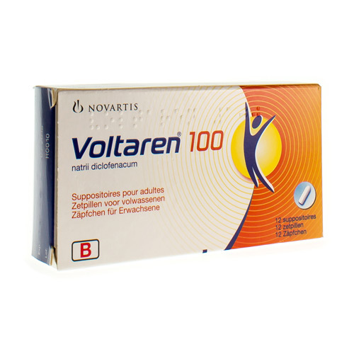 Voltaren 100 Mg (12 Suppositoires)