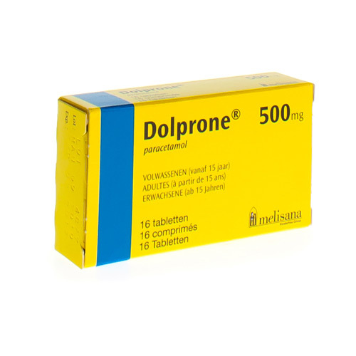 Dolprone Volwassenen 500 Mg  16 Tabletten