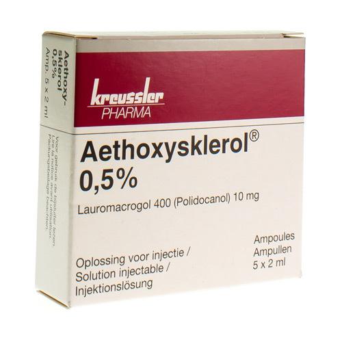 Aethoxysklerol 0,5%  5 Ampullen